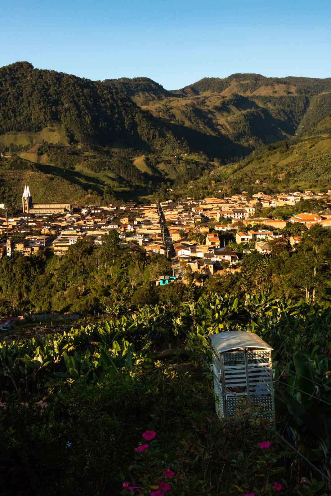 The view from the La Garrucha cablecar in Jardin, Colombia.