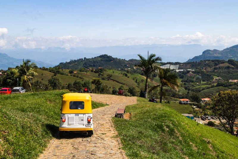 The hillside views in Jerico, Colombia don't disappoint.