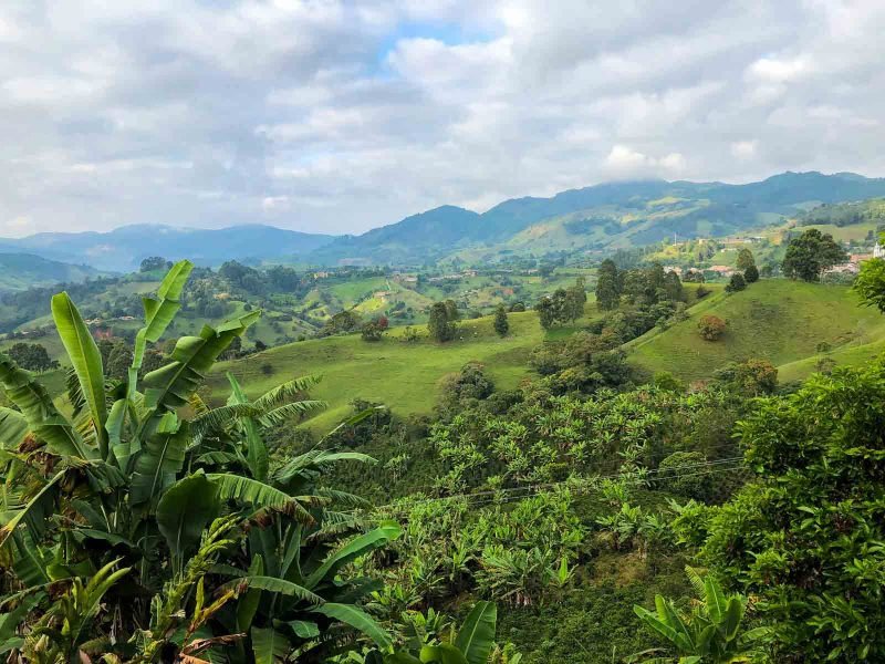 The view from our hotel in Jerico, Colombia is beautiful.