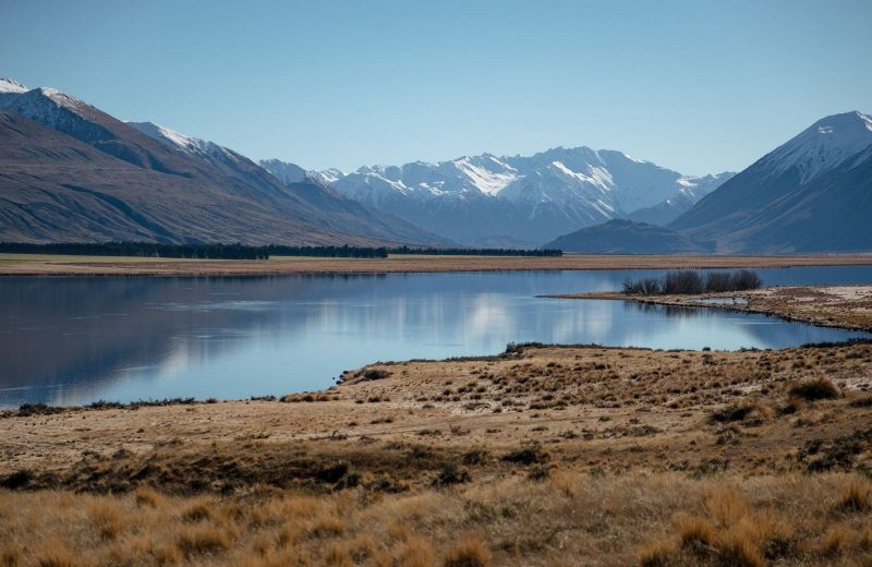 Lake Heron at Ashburton Lakes is one of several beautiful places to visit in South Island.