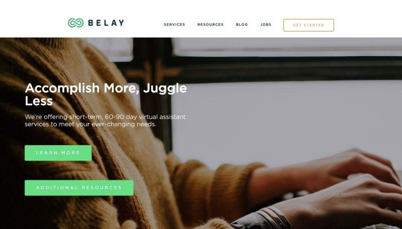 Belay is a fantastic work from home website for those interested in being a VA.