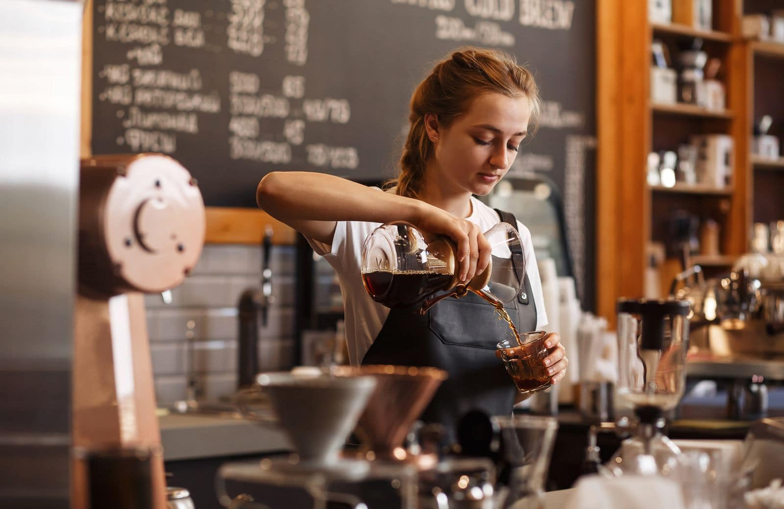 Popular jobs in Australia for foreigners include working in coffee shops.