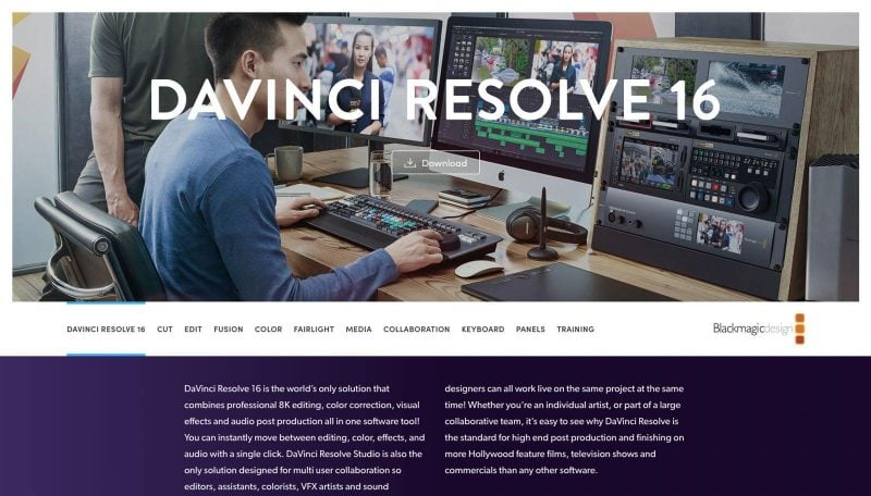 Even though DaVinci Resolve is a free online tool, it feels like a premium tool.
