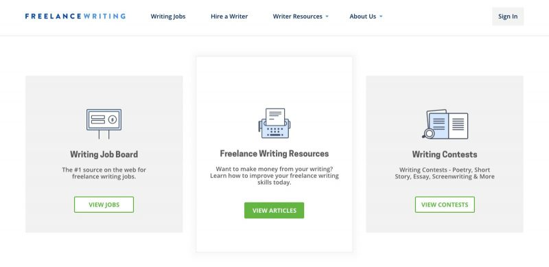Freelancing is a great site to work from home if you're a writer!