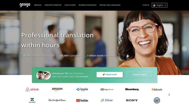 Gengo is an excellent work from home website for translation jobs.