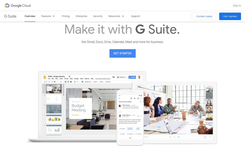 Google Suite is another free online tool that's helpful.