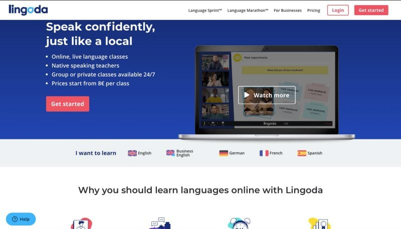 Lingoda is a great resource for how to teach a language online.