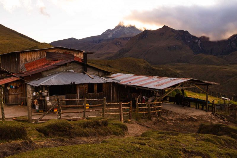 You'll stay at fincas during your Paramillo del Quindio hike.