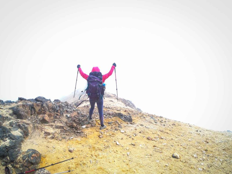 You'll feel accomplished after reaching the summit on your Paramillo del Quindio hike.