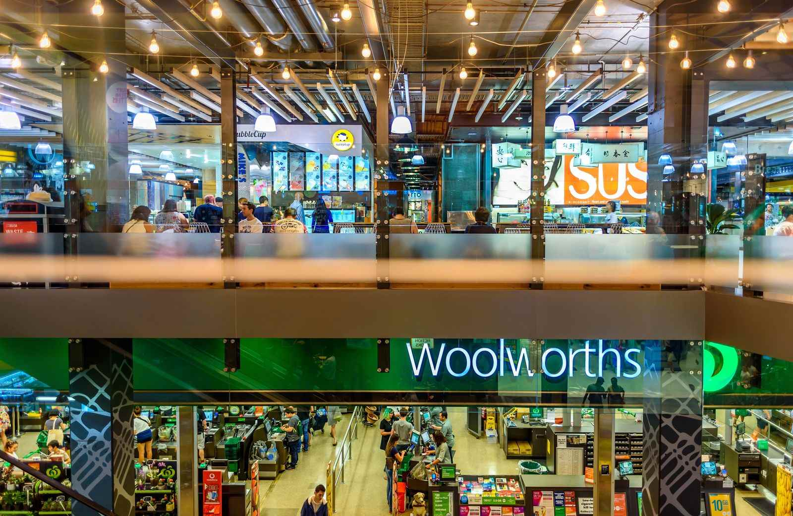 If you're lucky, there might be a Woolworth's inside of a shopping center near you and there might even be other little markets in the shopping center too.