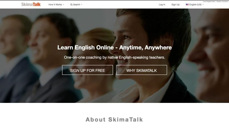 Skimatalk is another website you can use to teach English from home.
