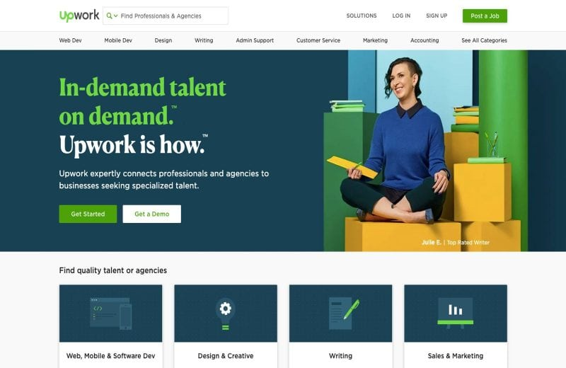 Upwork is a great work from home website.