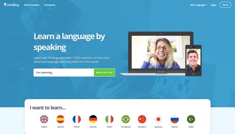 Verbling is an online teaching site.