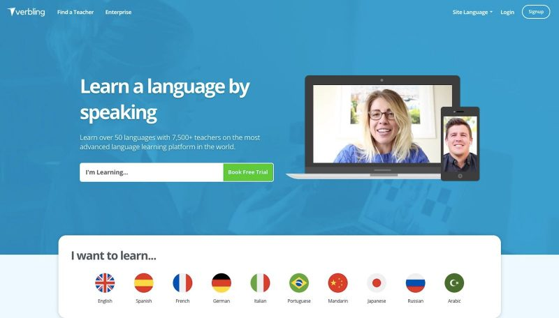 Verbling is an awesome from home website for those wanting to teach a language online.
