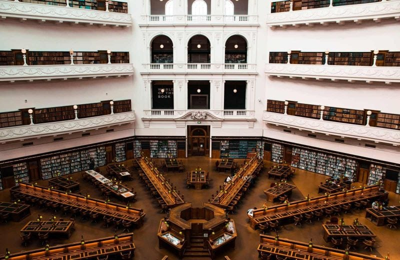 A chill and free thing to do in Melbourne is to hang out at the libraries.
