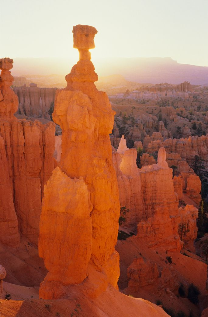 A gorgeous landscape you have to see on your Utah road trip is Bryce Canyon National Park.