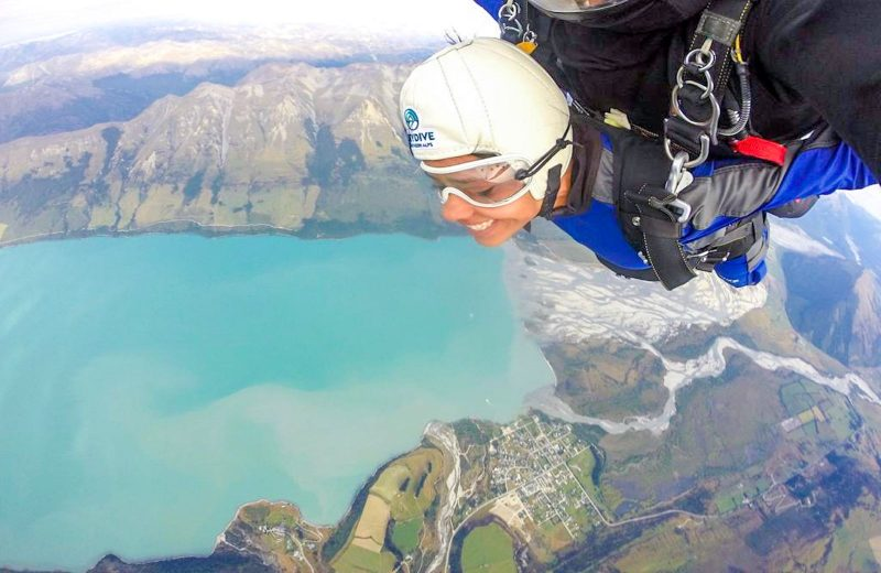 We went skydiving in New Zealand and it was a thrilling experience!