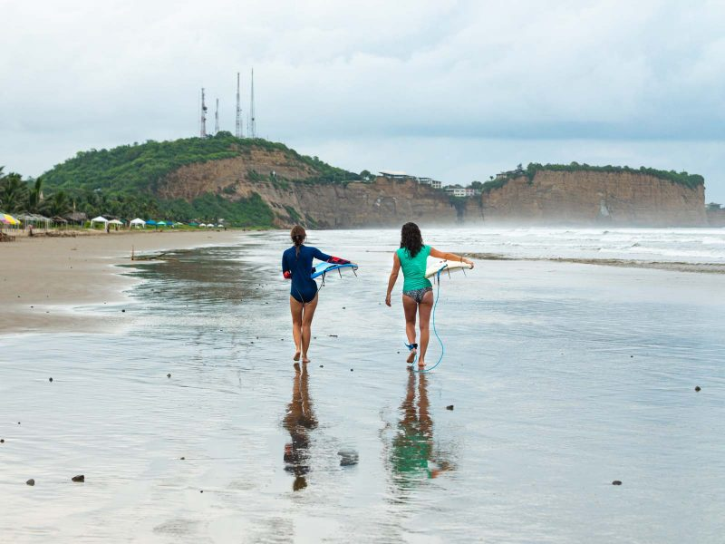 Olon, Ecuador has beautiful beaches for surfing!