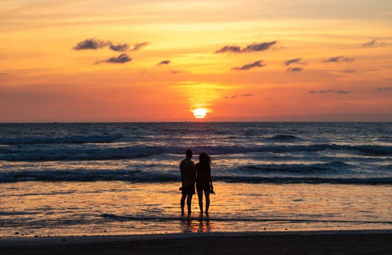 Regardless of when you visit Olon, Ecuador, you'll catch some gorgeous sunsets on the beach!