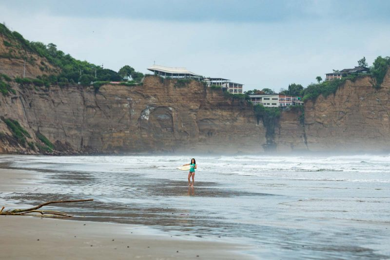 Olon, Ecuador has beautiful beaches for surfing!