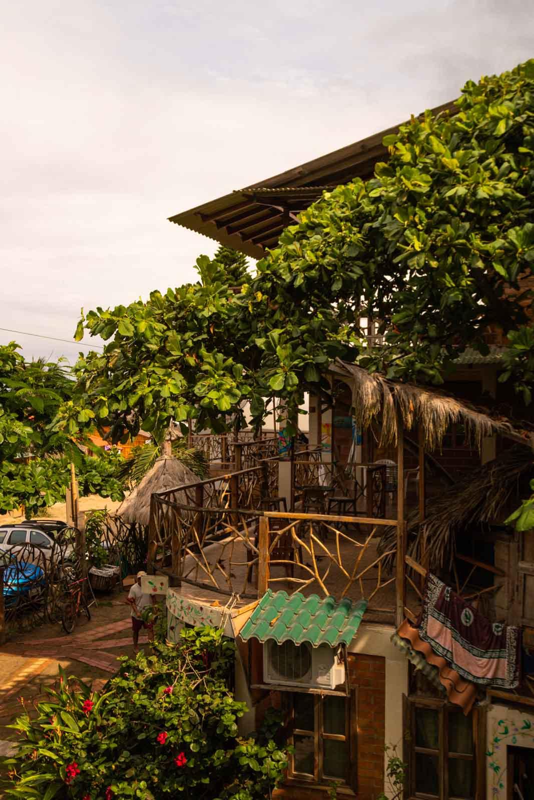 We stayed at Olon Sea Garden Hotel for a little bit when we were visiting Olon, Ecuador.