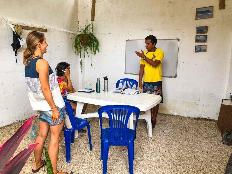 I took Spanish classes in Olon, Ecuador.