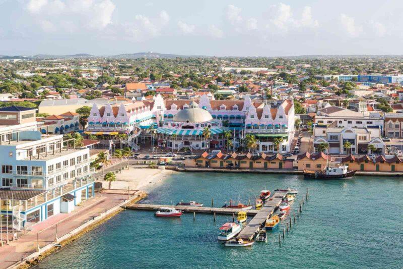 View of Aruba port area - Aruba offers a Digital Nomad Visa