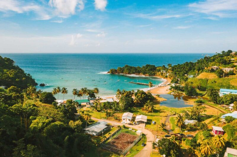 View over Barbados coastline