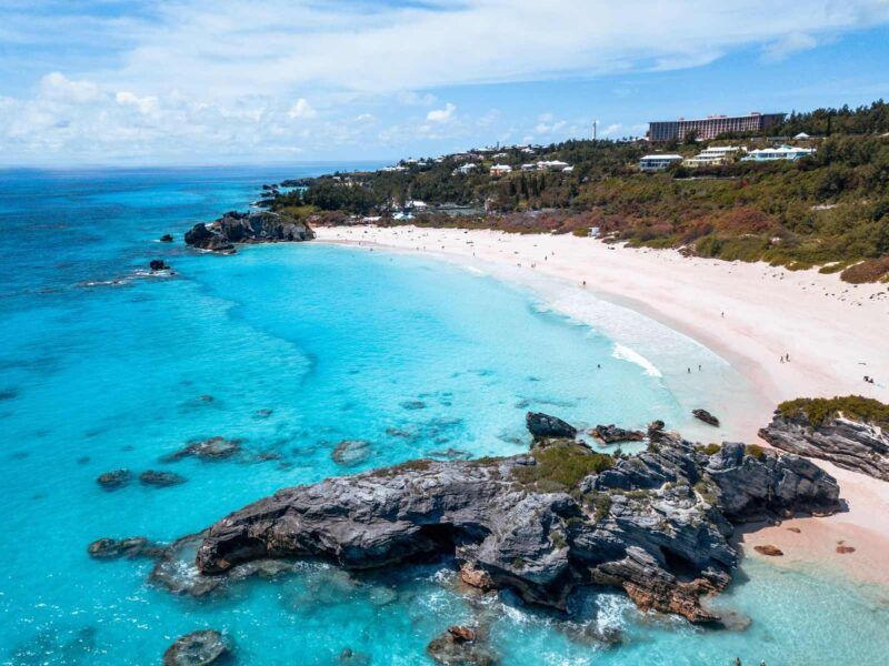Beach and headland in Bermuda