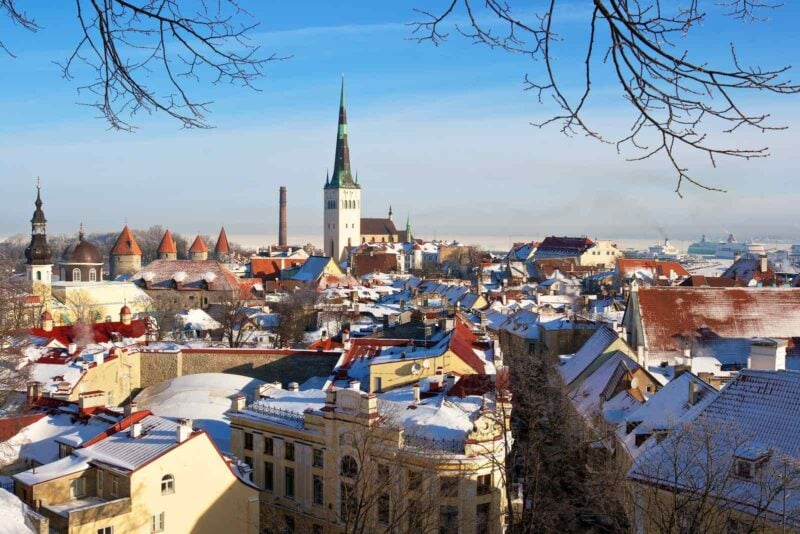 View over Tallinn's downtown in Estonia