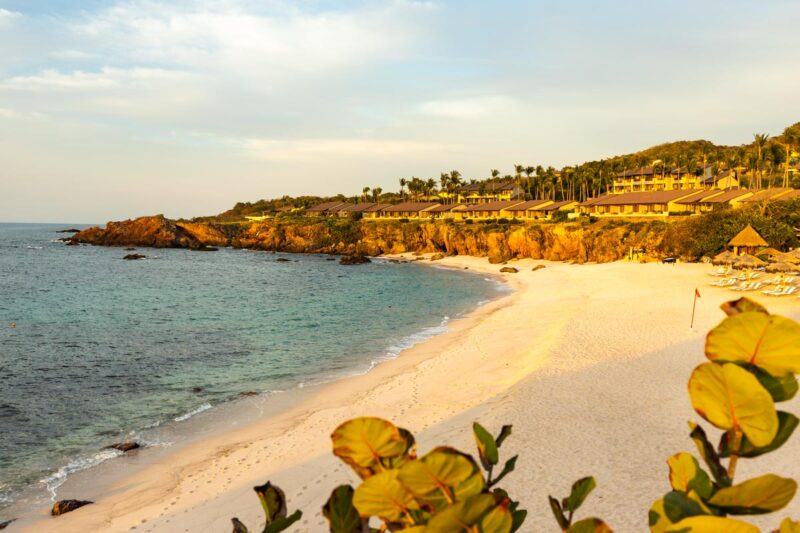 Four Seasons beach in Punta Mita at sunset, one of the best Sayulita Beaches