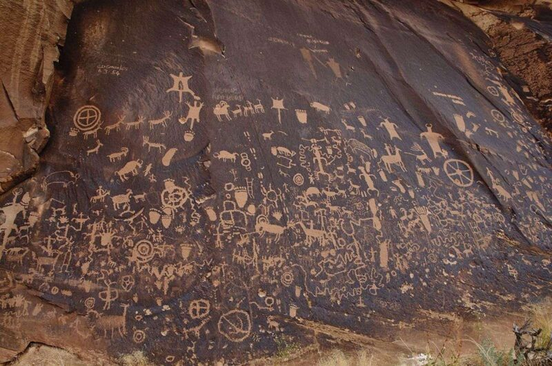 Petroglyphs on a Newspaper Rock - one of the best things to do in Moab