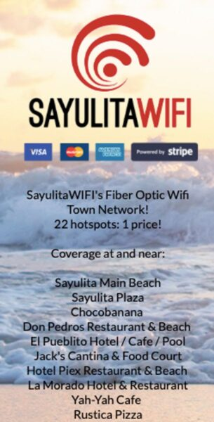 Information card for Sayulita WiFi - a must if you are living in Sayulita