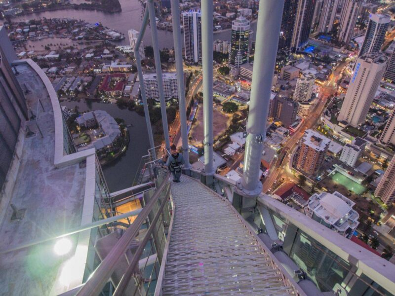 View from Skypoint climb over the Gold Coast during sunset - climbing it is one of the best things to do on the Gold Coast