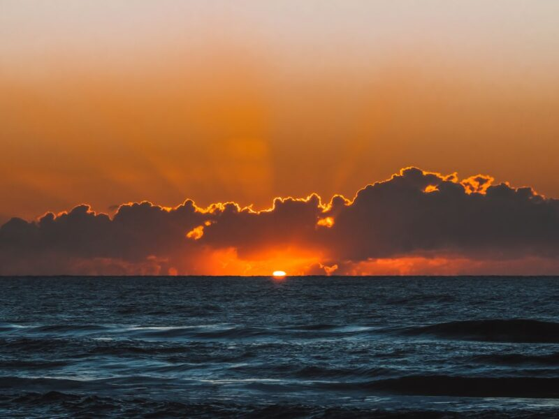 Sunrise over ocean at Surfers Paradise on the Gold Coast