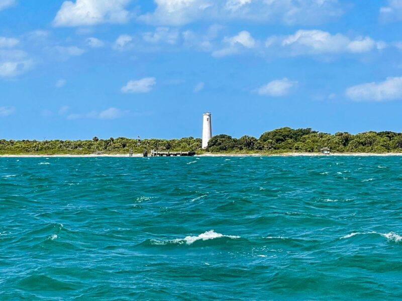 View of lighthouse at Egmont Key State Park