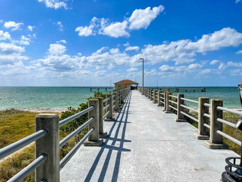 View along the pier at Egmont Key State Park