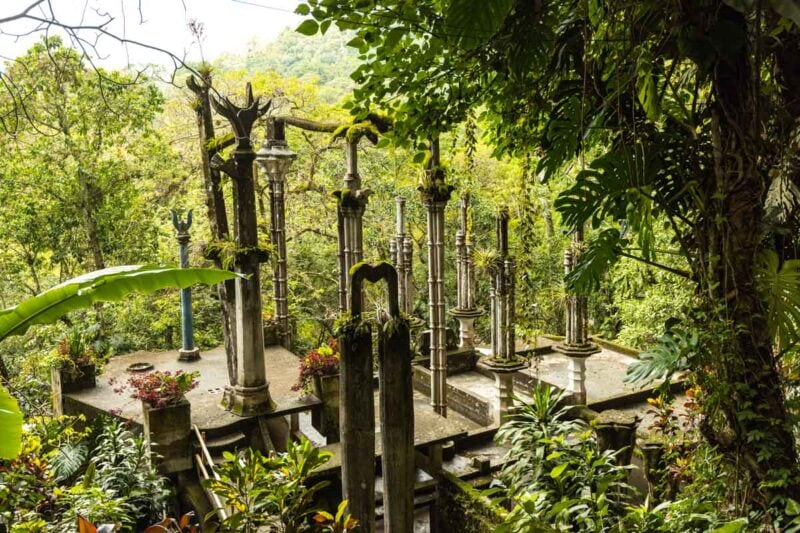 Sculpture in the jungle in Las Pozas Xilitla Jardin on one of the Huasteca Potosina tours in Mexico