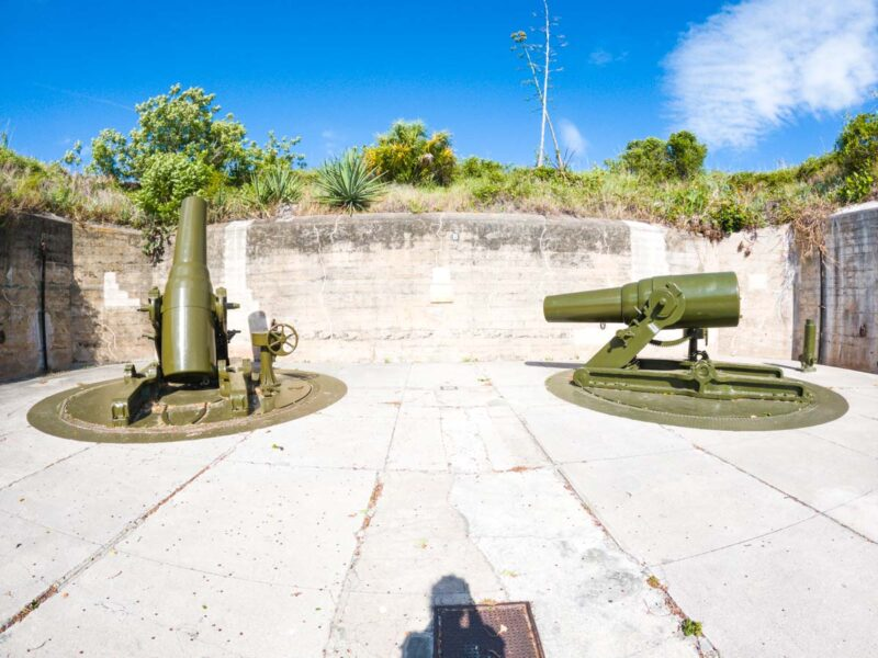 Cannons in the old fort at Fort De Soto Park