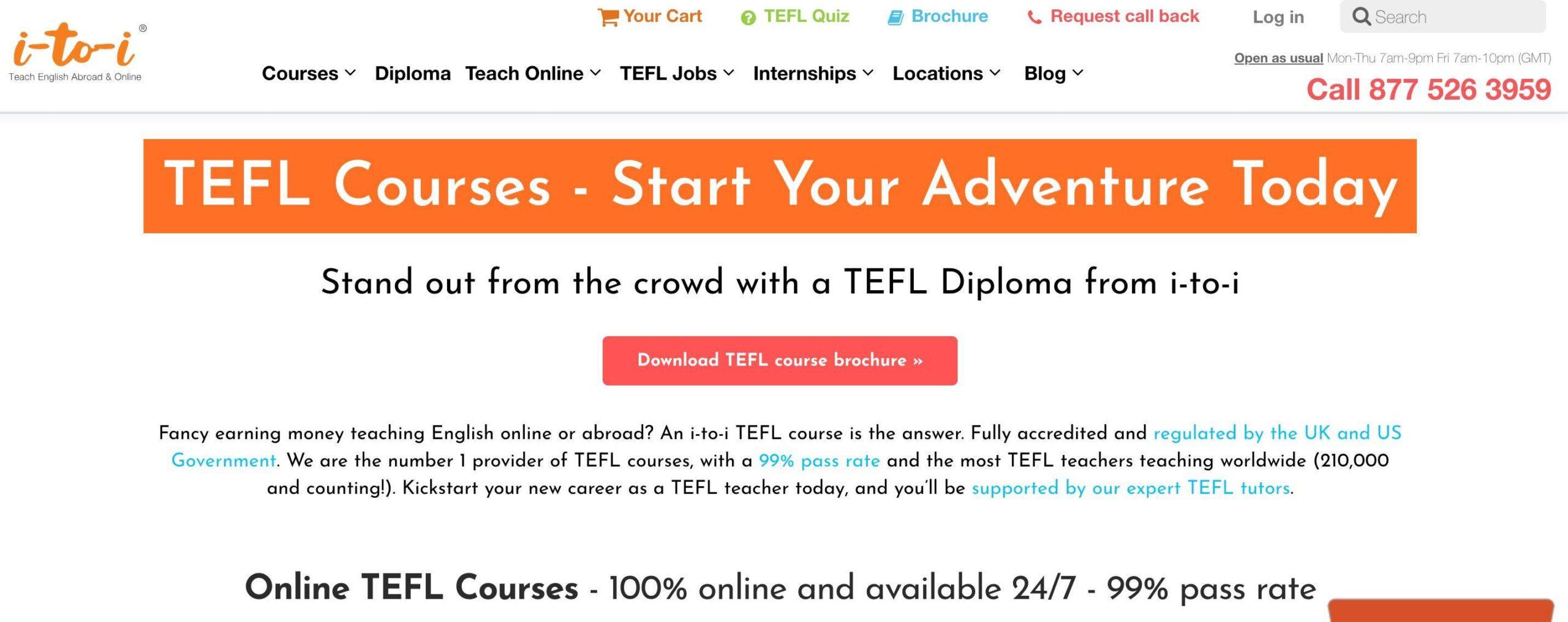Screenshot of i-to-i TEFL course