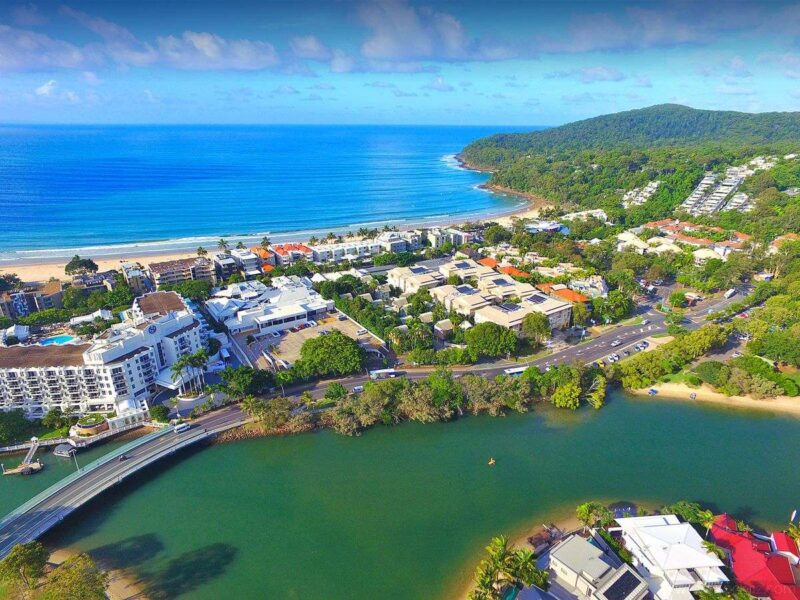 Aerial view of Noosa Heads on the Sunshine Coast
