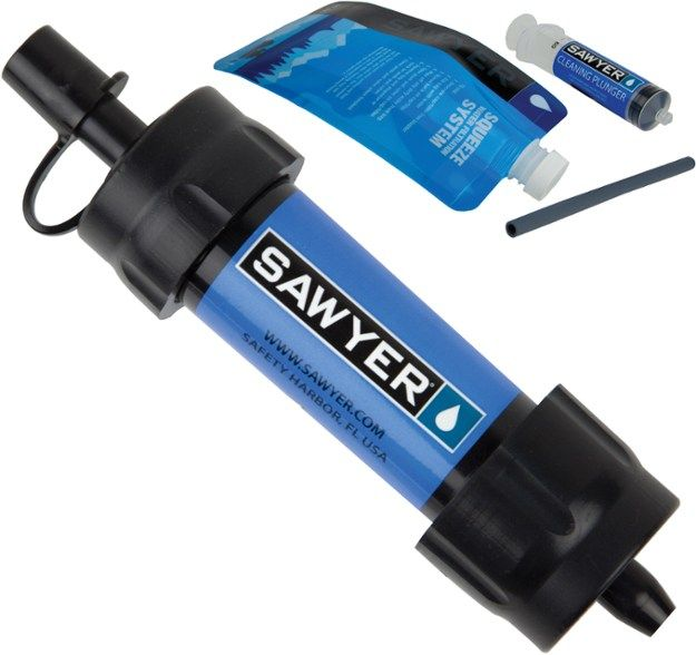 Sawyer MINI travel water filter with attachments