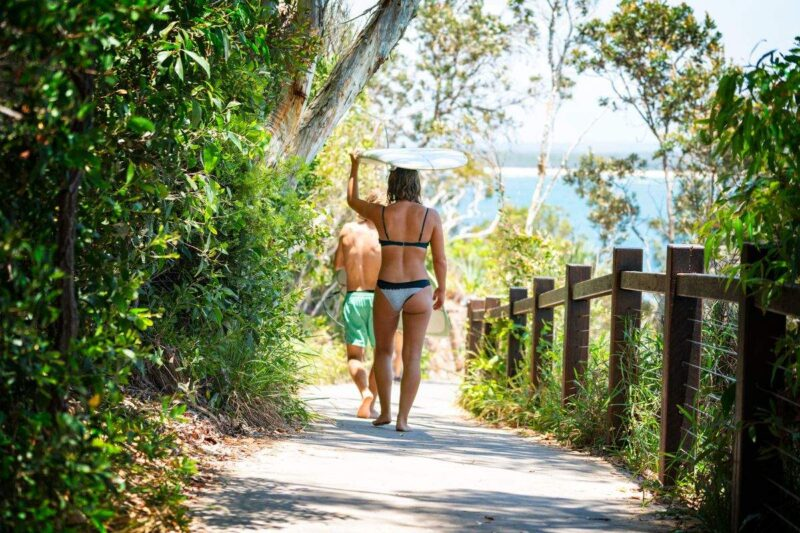 Surfing at Coolum Beach is a great thing to do on the Sunshine Coast