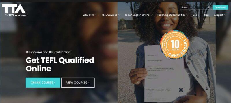 TEFL Academy website screenshot