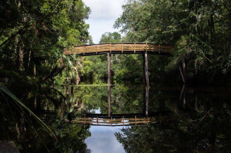 Bridge over Hillsborough River near Tampa, Florida