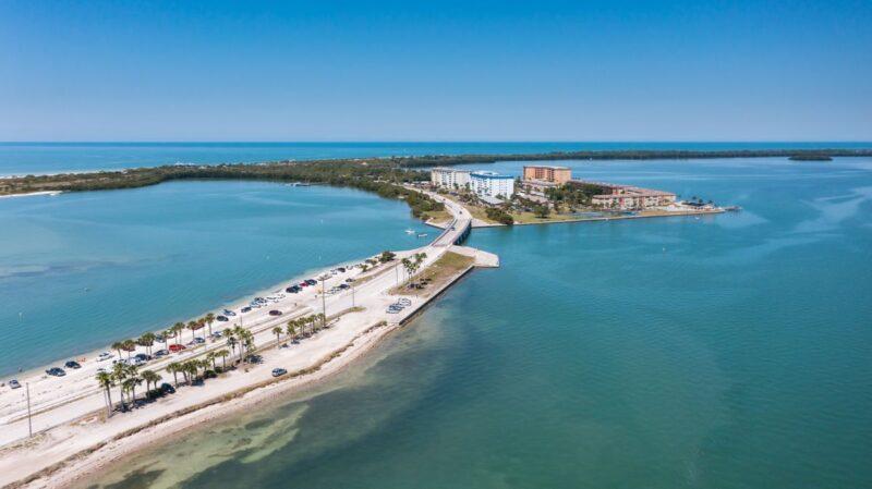 Bridge to Honeymoon Island near Tampa Florida