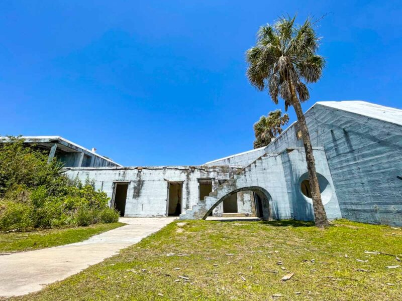 Crumbling walls of the fort at Egmont Key State Park